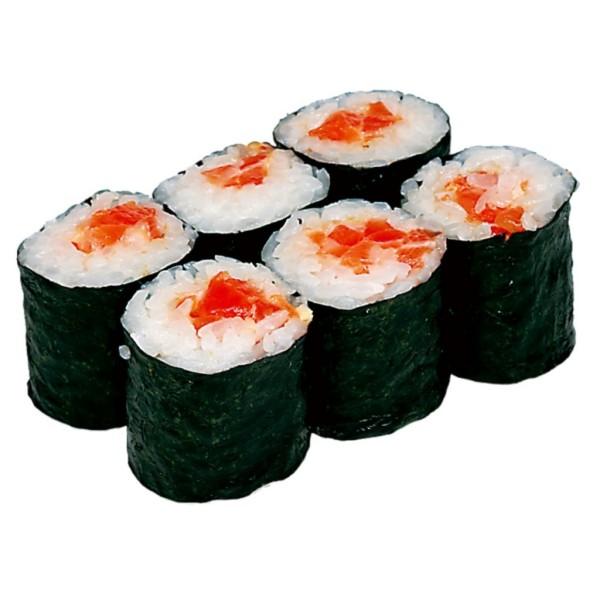 Ролл с острым лососем