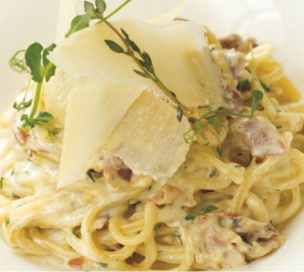 Спагетти Карбонара в сливочном соусе