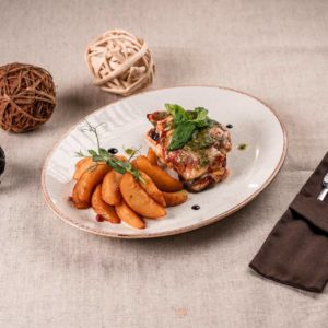 куриное филе запечёное с баклажаном 2
